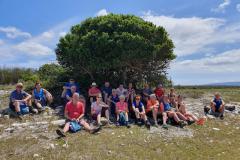 2020 hike met groep in Zuid Afrika